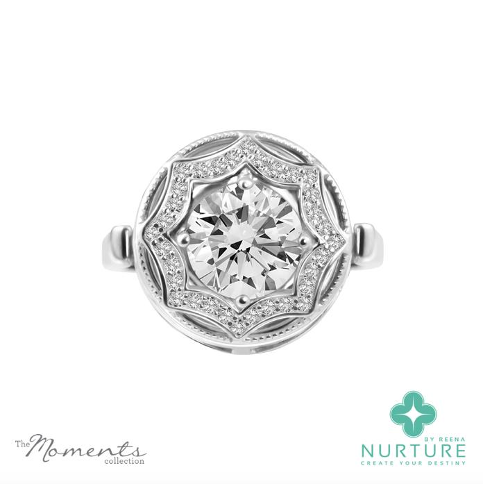 Celsetial Star ring_NurtureByreena_ReenaAhluwalia_Colorless lab-grown diamonds