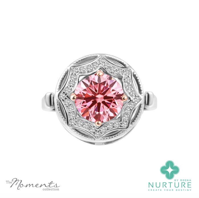 Celestial Star pendant_NurtureByreena_ReenaAhluwalia_Pink lab-grown diamonds