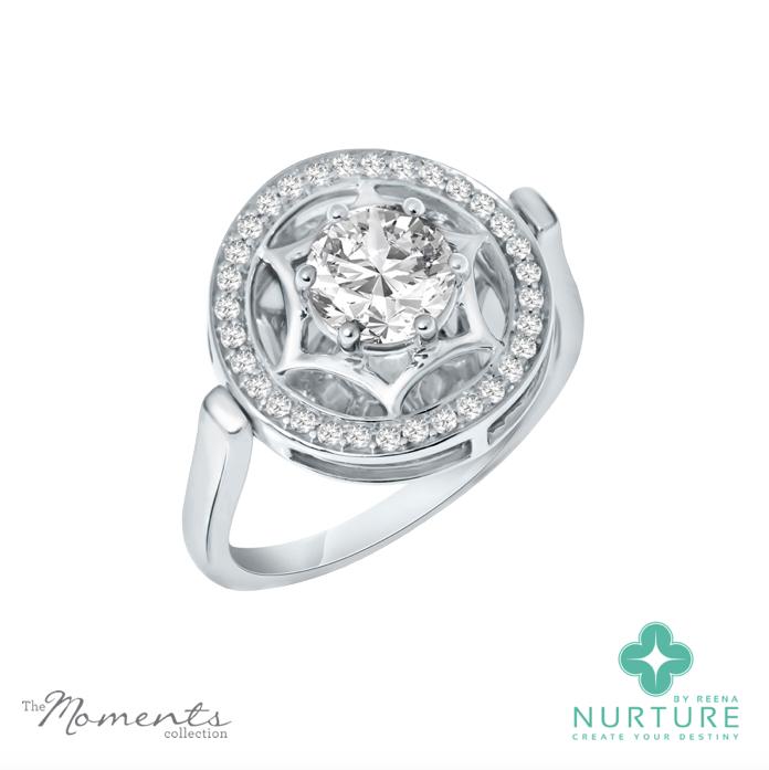 Starlight halo ring_NurtureByreena_ReenaAhluwalia_Colorless lab-grown diamonds