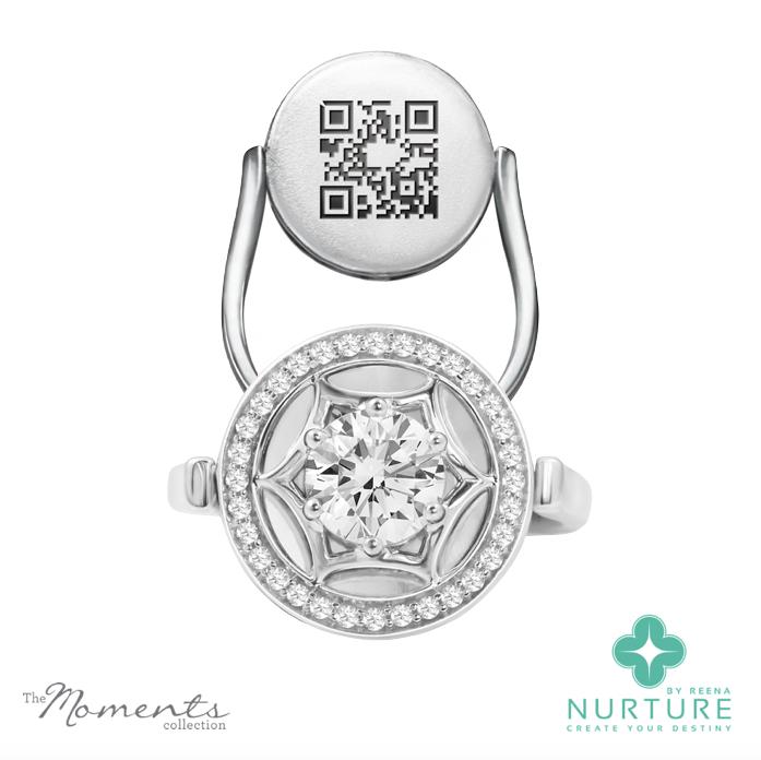 Starlight Halo ring_NurtureByreena_ReenaAhluwalia_Colorless lab-grown diamonds1
