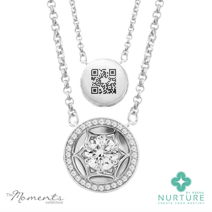 Starlight Halo pendant_NurtureByreena_ReenaAhluwalia_Colorless lab-grown diamonds