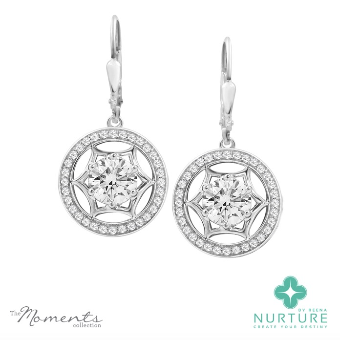 Starlight Halo earrings_NurtureByreena_ReenaAhluwalia_Colorless lab-grown diamonds