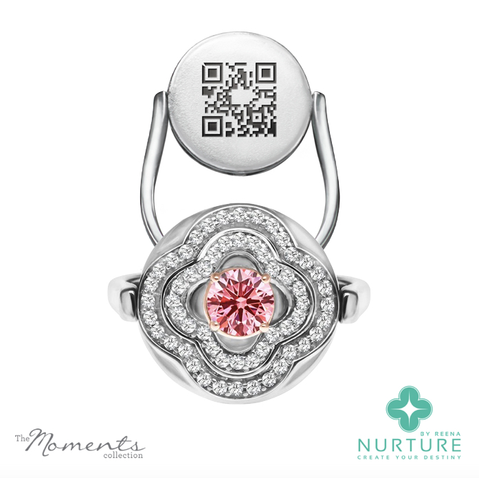 Primrose ring_NurtureByreena_ReenaAhluwalia_Pink lab-grown diamonds