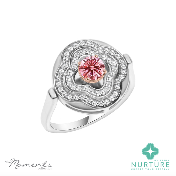 Primrose ring_NurtureByreena_ReenaAhluwalia_Pink lab-grown diamonds1