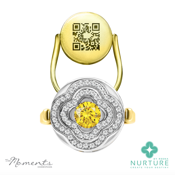 Primrose ring_NurtureByreena_ReenaAhluwalia_Yellow lab-grown diamonds