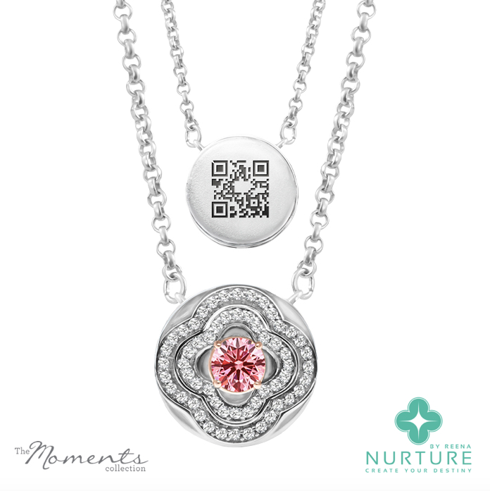 Primrose pendant_NurtureByreena_ReenaAhluwalia_Pink lab-grown diamonds
