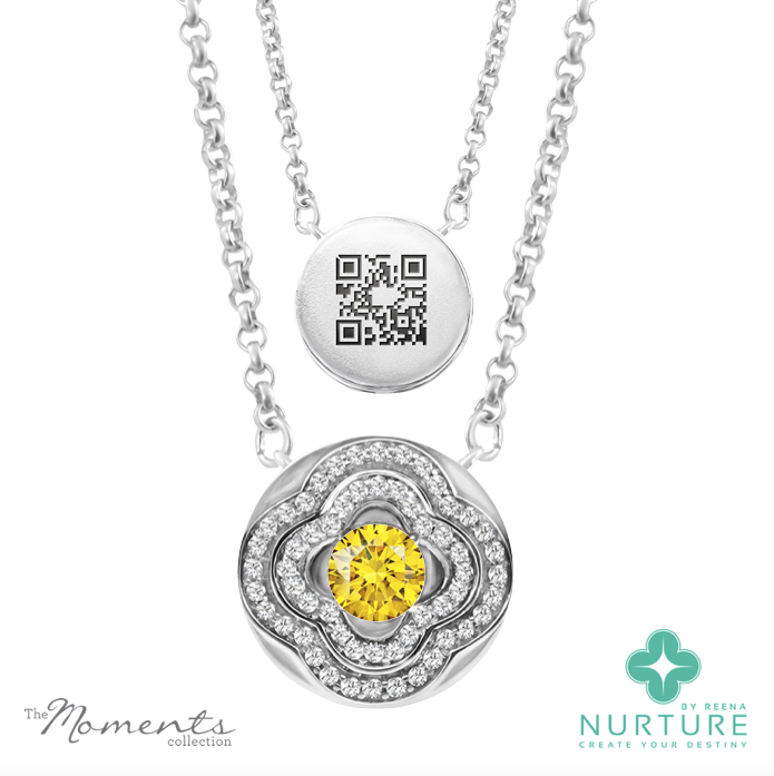 Primrose pendant_NurtureByreena_ReenaAhluwalia_Yellow lab-grown diamonds