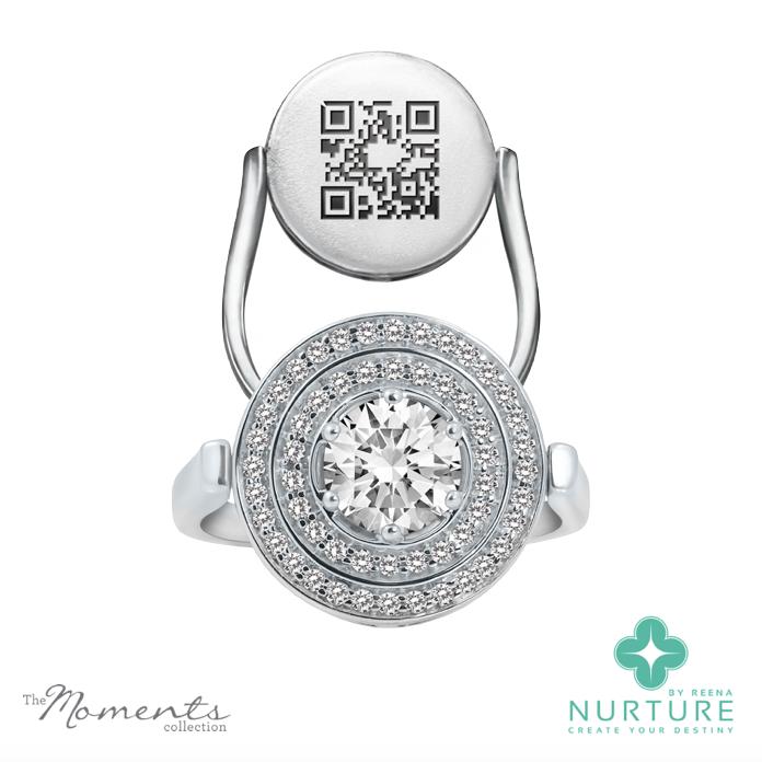 Passion Double Halo ring_NurtureByreena_ReenaAhluwalia_Colorless lab-grown diamonds1
