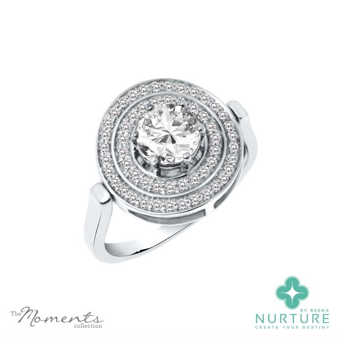 Passion Double Halo ring_NurtureByreena_ReenaAhluwalia_Colorless lab-grown diamonds