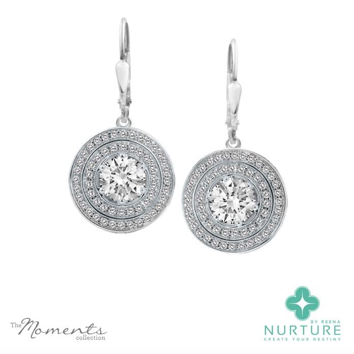 Passion Double Halo earrings_NurtureByreena_ReenaAhluwalia_Colorless lab-grown diamonds