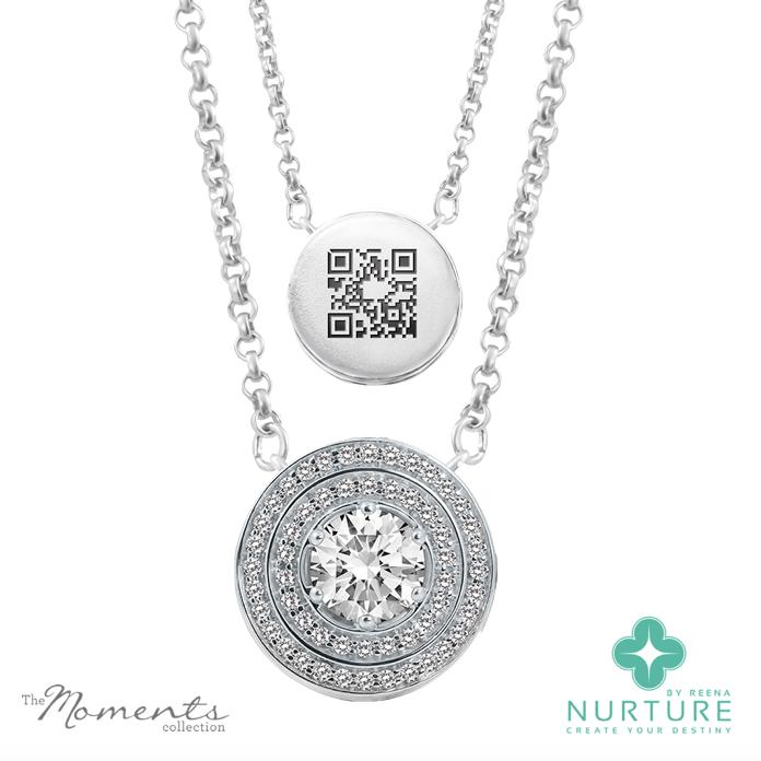 Passion Double Halo pendant_NurtureByreena_ReenaAhluwalia_Colorless lab-grown diamonds