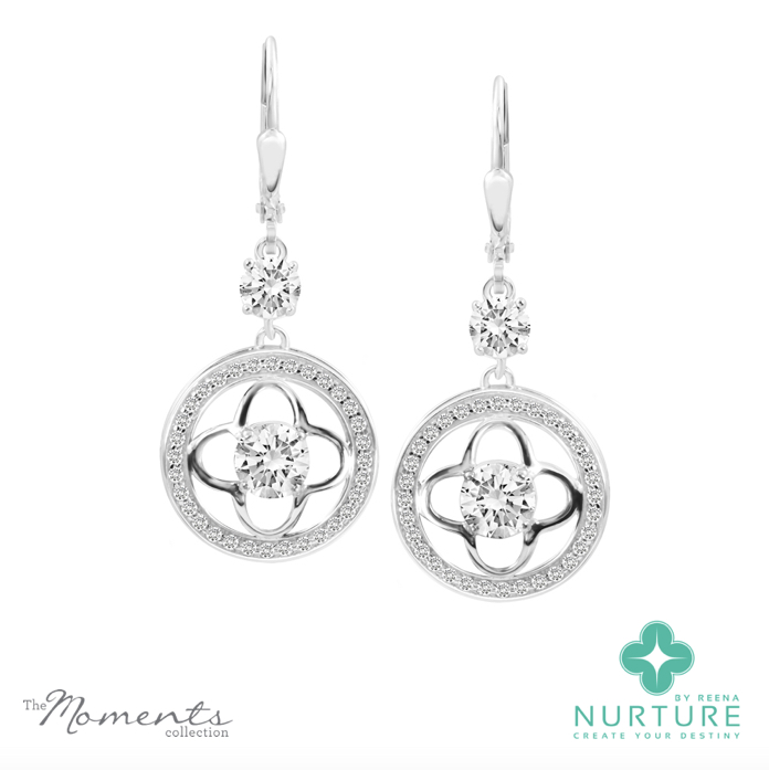Clover Halo earrings_NurtureByreena_ReenaAhluwalia_Colorless lab-grown diamonds