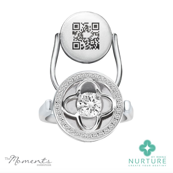 Clover Halo ring_NurtureByreena_ReenaAhluwalia_Colorless lab-grown diamonds