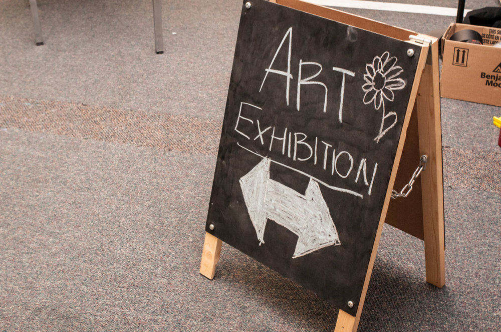 What's an exhibition without a sign. Photo: Rachel Topham.