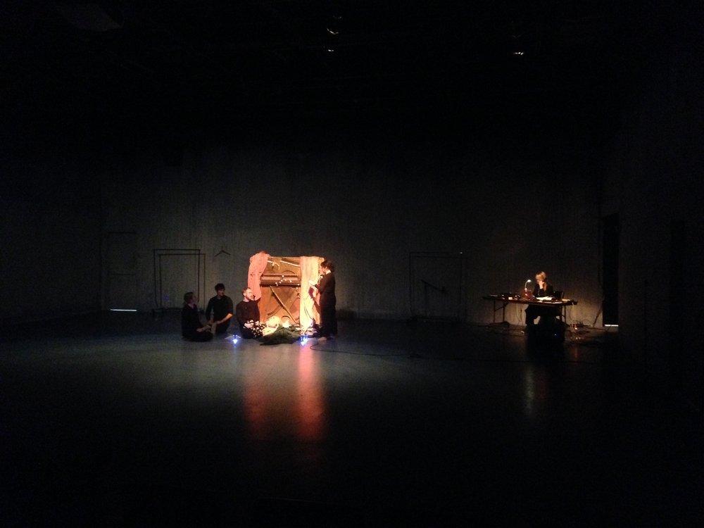 Object wake. Erin Leddy, Ken Yoshikawa, Kaj-anne Pepper, Liz Hayden, Erika M Anderson (L to R)