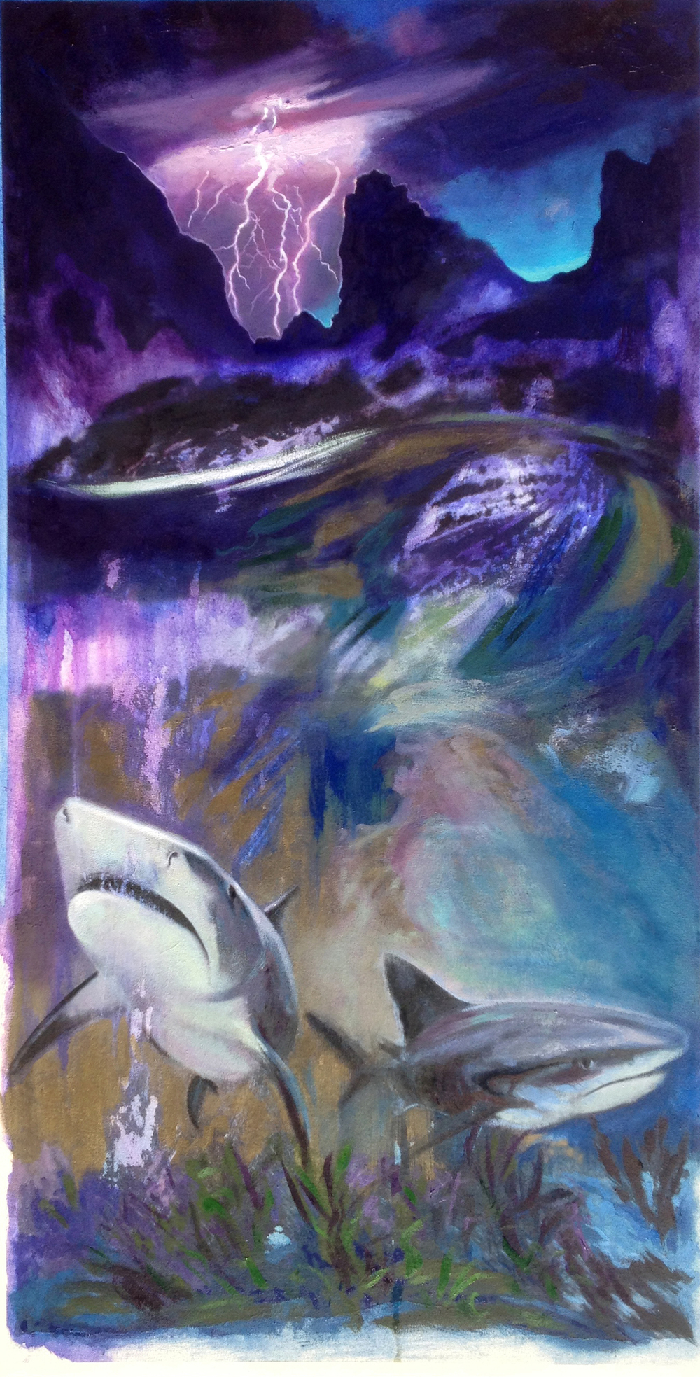 Leviathan , oil, acrylic, canvas, 2015.