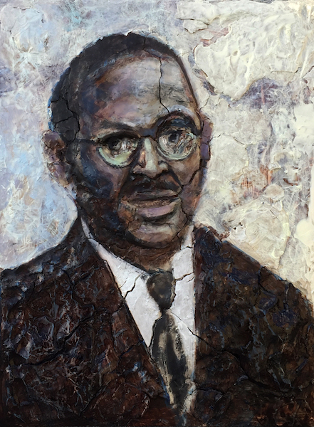 "Portrait of Reverend Clementa Pinckney, 24"" x 18"", 2017"