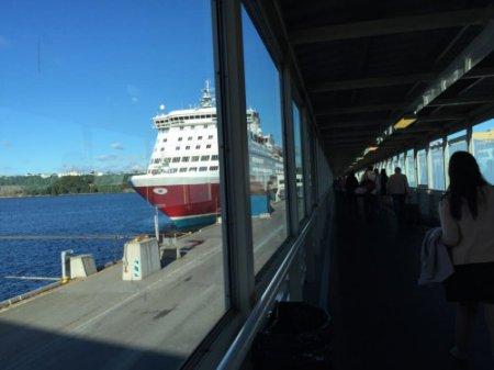 歐洲坐郵輪,上船一刻十分興奮 (其實早半小時前才擔心趕不上航班呢!哈哈)