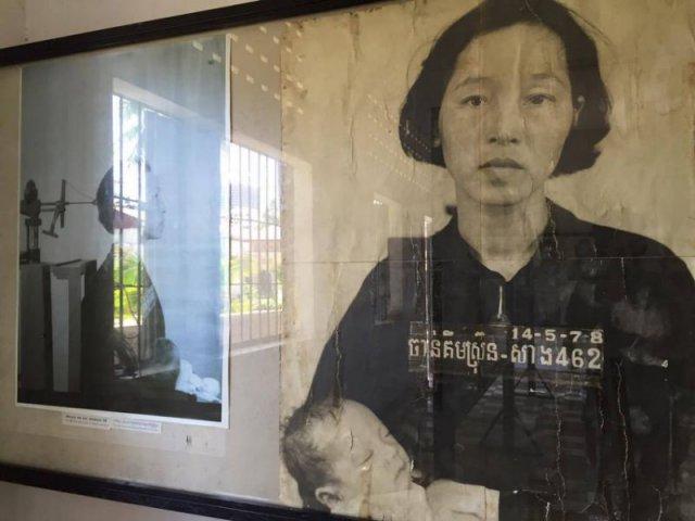 鑽腦機相片,右面是疑受鑽腦酷刑的母子