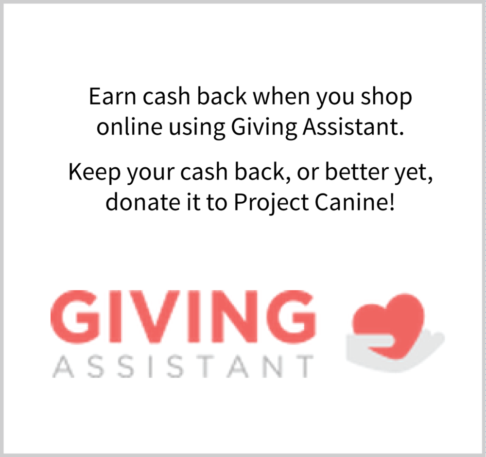 Click here to support Project Canine using Giving Assistant.