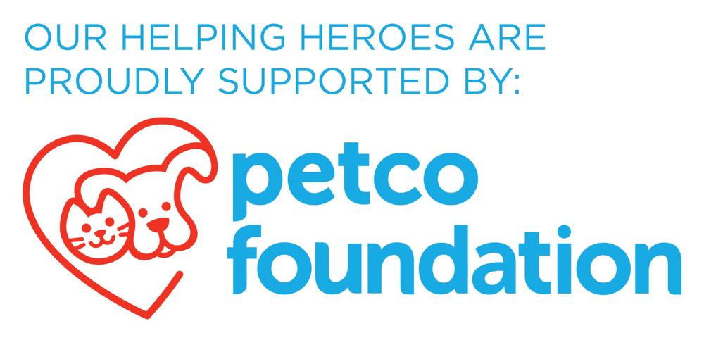 Petco Foundation Helping Heroes logo