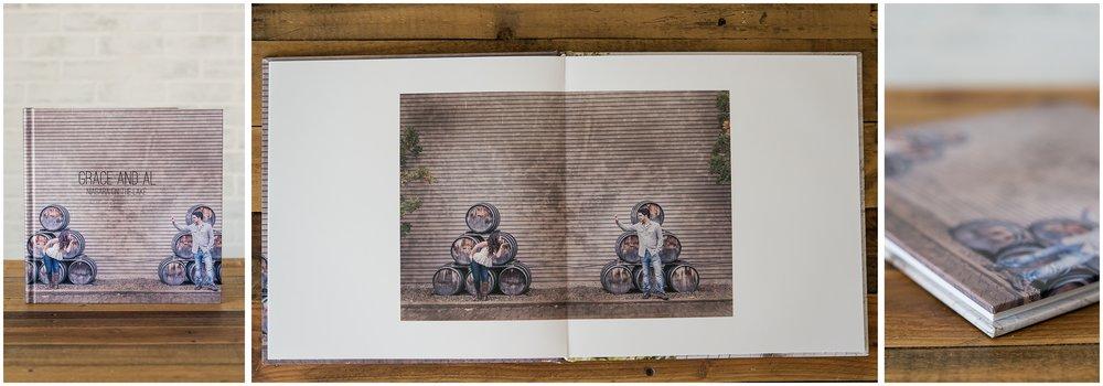 12 x 12 hard cover album with custom photowrap cover.