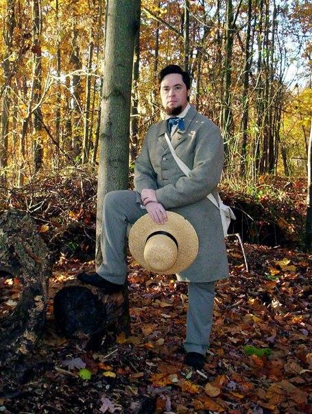 Richard Smith as Henry David Thoreau.  From his Facebook Page .
