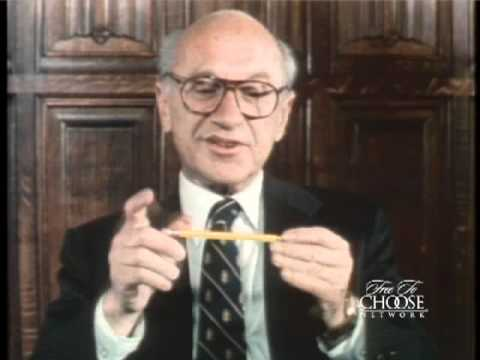 Milton Friedman, an American economist, discussing the wooden pencil.