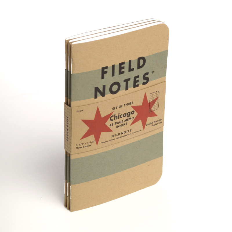 The new Field Notes Chicago Edition. Available from  FieldNotesBrand.com .