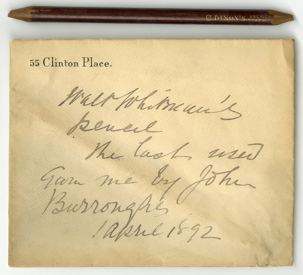 ¡° Whitman's last pencil ,¡±  The Lilly Library Online Exhibitions , accessed November 8, 2018,