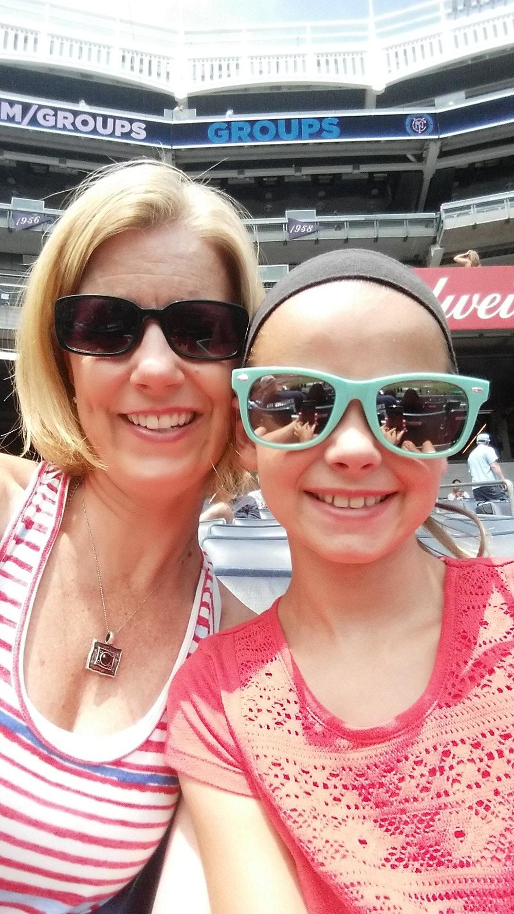 """Great day at Yankee Stadium with my daughter watching the soccer match. Thanks for making this possible!"" - US Air Force Servicewoman"