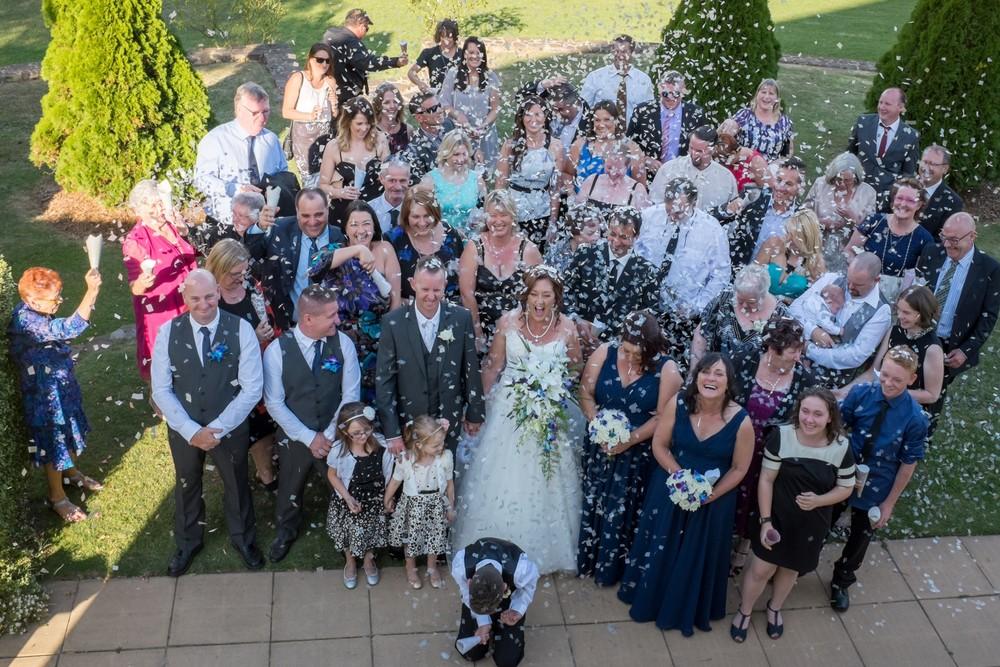 Blaso Pyrotechnics Bio Confeti Testimonial Wedding Group Photo.jpg
