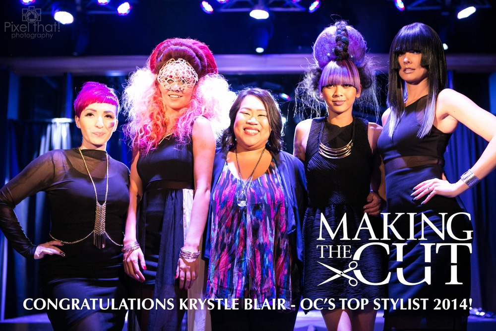 2014 OC Top Stylist: Krystle Blair of THE COLLECTIVE… a hair salon in Costa Mesa.