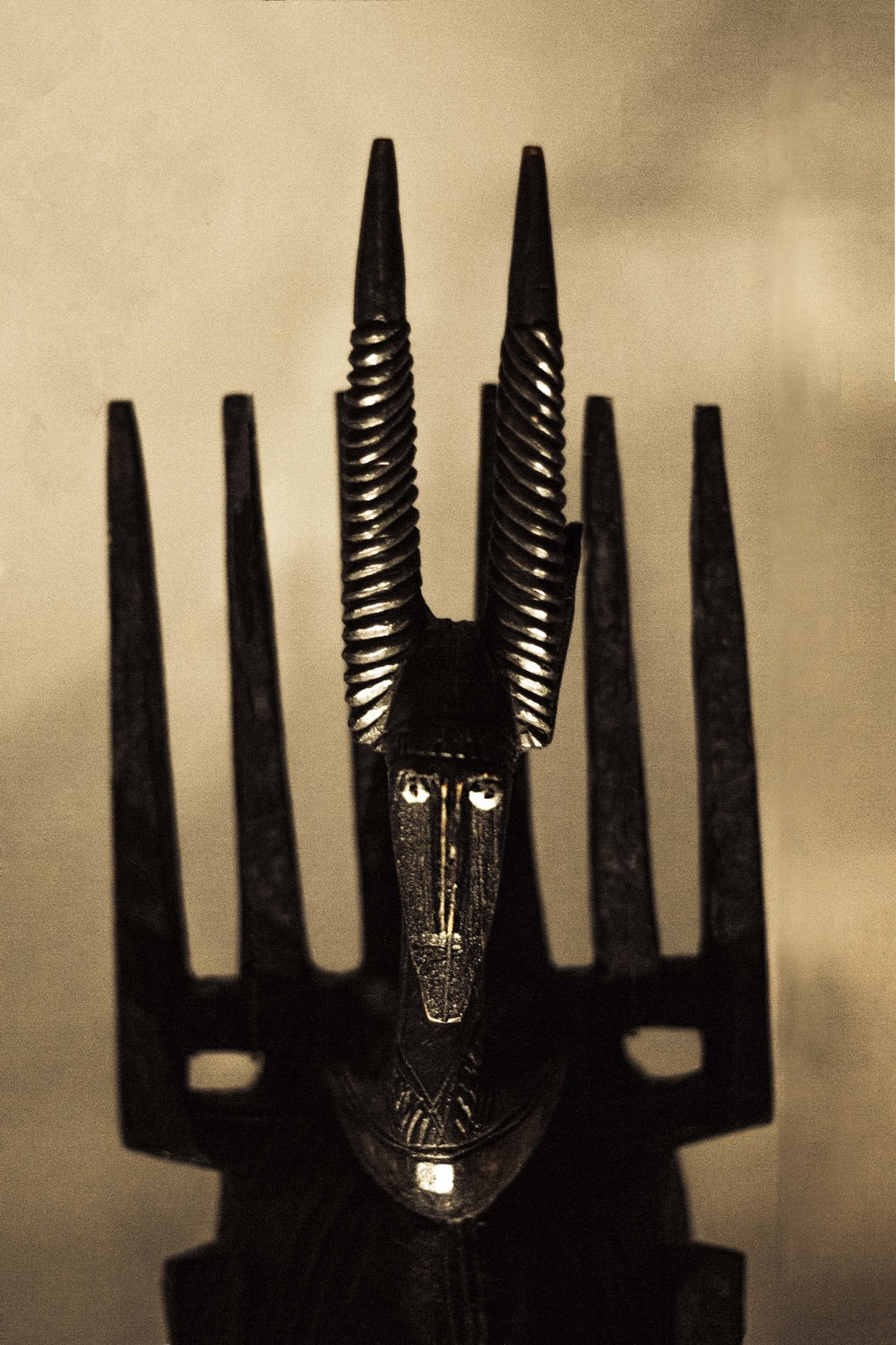 Scary Horned Figure