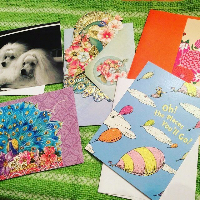 "Repost from @katie_t._clemens -  Getting ""surprise"" cards ready!  @letlovesurpriseyou gave me the wonderful idea of joining in leaving random cards for friends we don't know.  Join us!  It's fun and you'll brighten someone's day!  Please comment that you'll leave a card somewhere this week... pretty please? 😊  #letlovesurpriseyou #love #happiness #cards #creativity #kindness #joy #sharing #randomactsofkindness #randomactswithlove #kindwords - #regrann"
