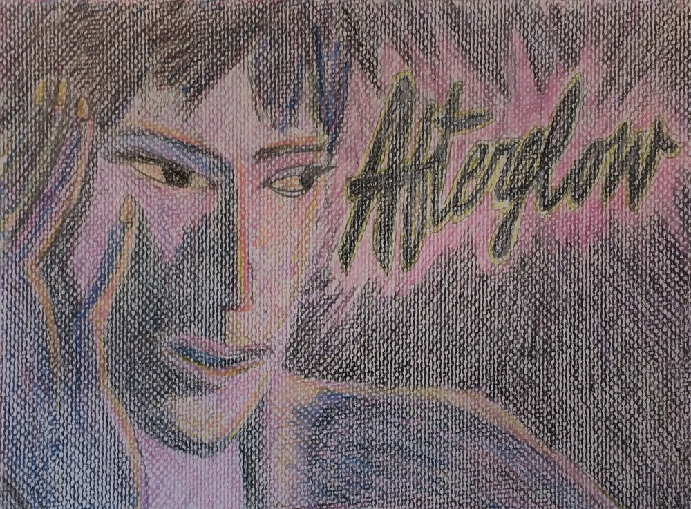 """Afterglow, color pencil on paper, 12"""" x 9"""", 2016"""