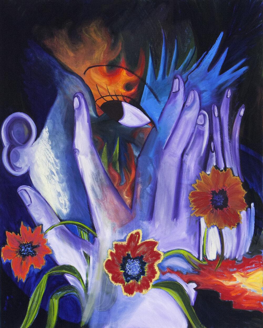 "Inner Fire, oil on canvas, 48"" x 60"", 2019"
