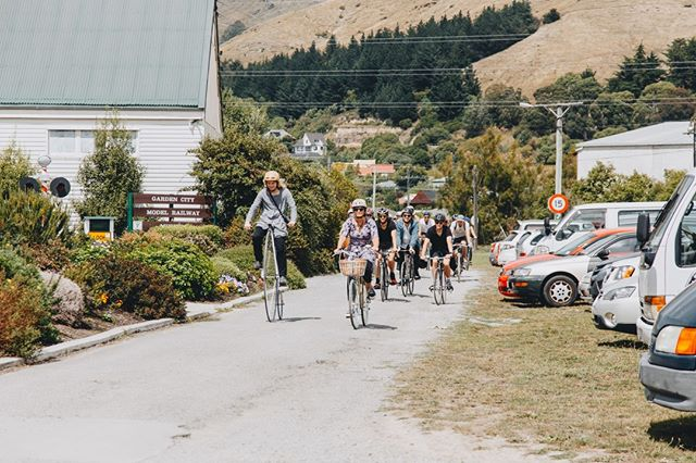 Our mates at @actionbicycleclub have perfected the art of slow rolling and organised an impressive ride from the city to Ferrymead this year. Make sure you follow them for upcoming rides and events! #nostalgiafestival #slowroll #cyclelanesplease