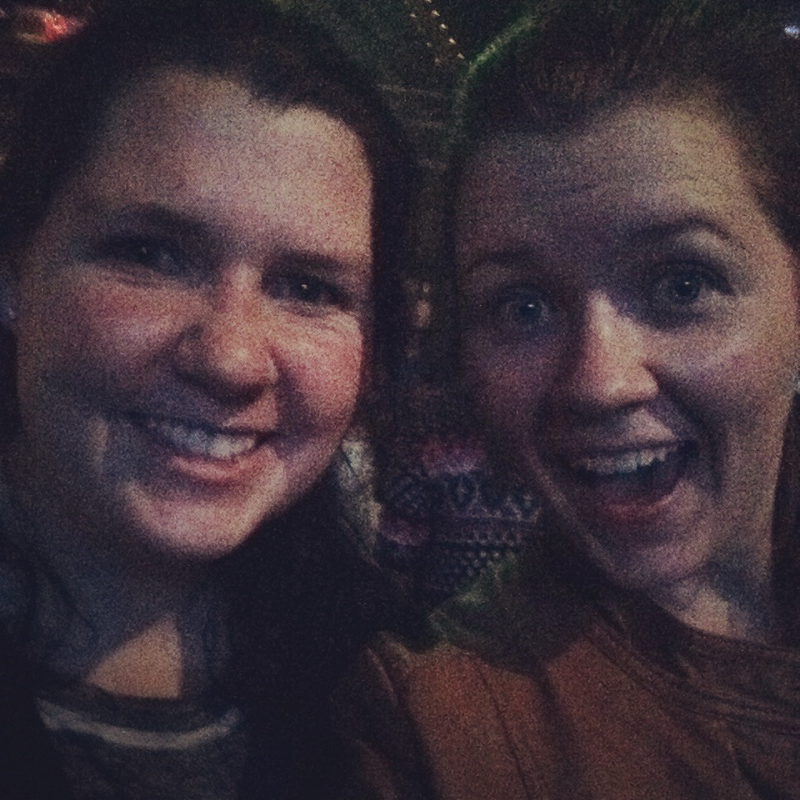 My sister and I at the concert, can you tell we were excited?