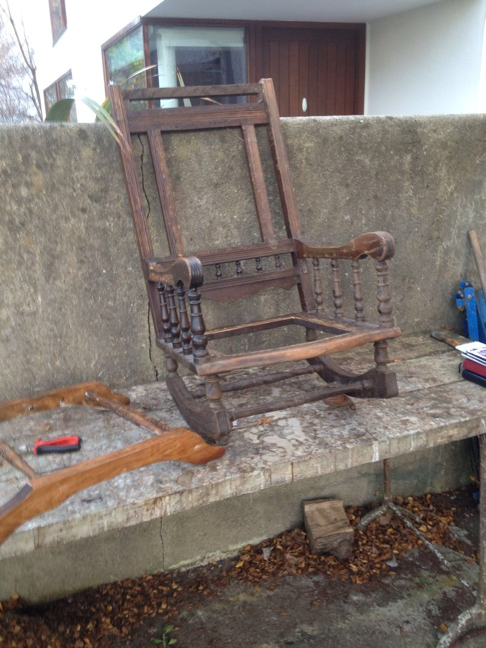 Poor old Rocking Chair in a state