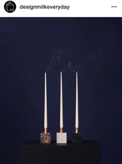 Block Candle Holder designed by Malene Birger featured on Design Milk Everyday's Instagram