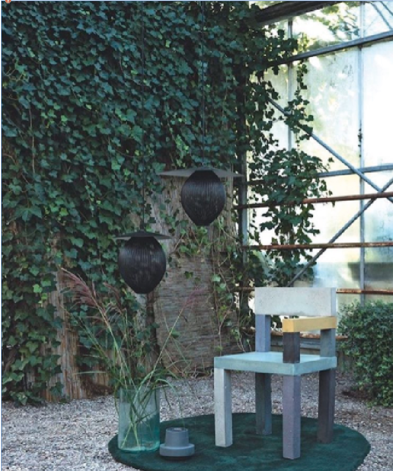 Untitled (Concrete Chair) // From Bo Bedre Denmark,Styling by Katrine Martensen Larsen and photo by Kira Brandt
