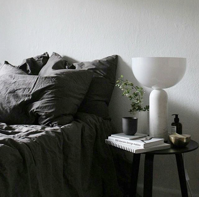 Kizu Table Lamp - White Marble w. White Acrylic // Photo by Houzoslo and Mikkeldahlstroem