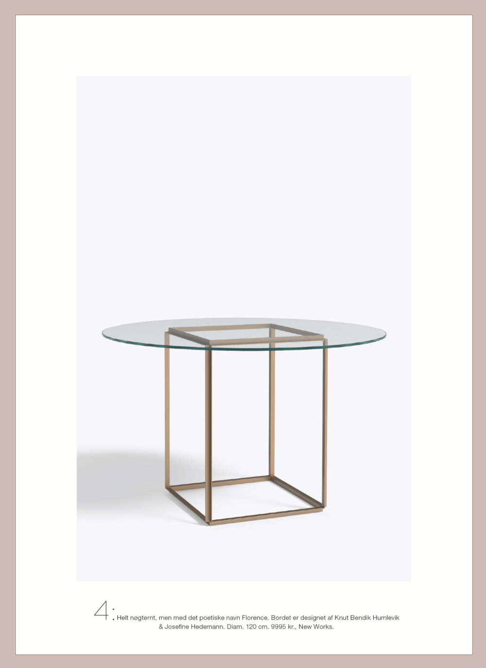 Costume Living  - Florence Dining Table, Raw Cold / Designed By Knut Bendik Humlevik & Josefine Hedemann