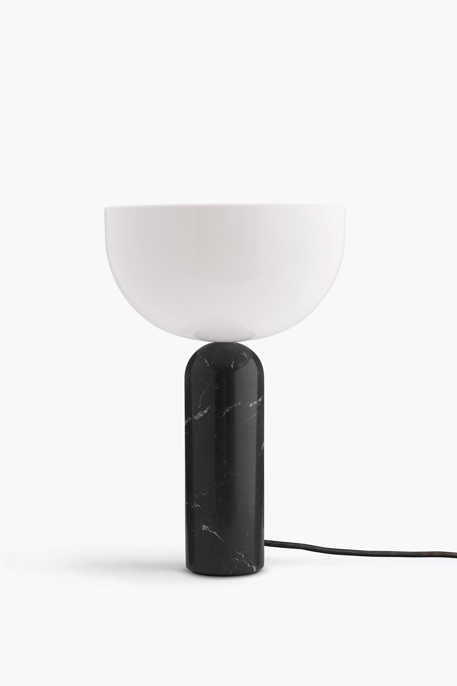 Kizu Table Lamp Black Marble, Large — New Works