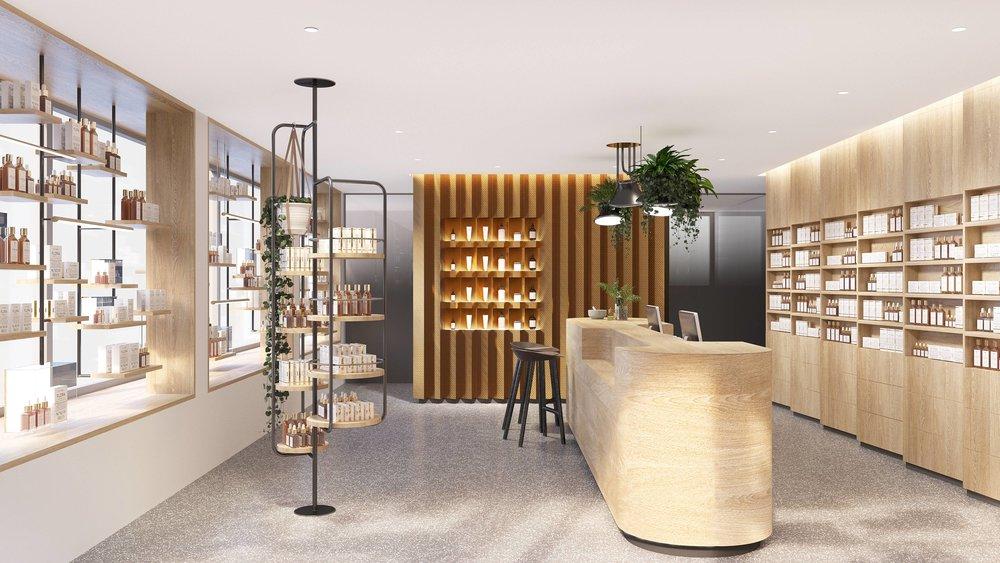 Innenarchitektur Stuttgart - Apotheke, Retail, Nature, Natur, Pflanzen