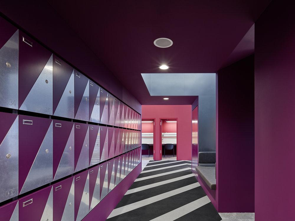 Bosch Automotive Steering - Neue Arbeitswelt 205, office, lockers, rubber floor, interior architecture, design