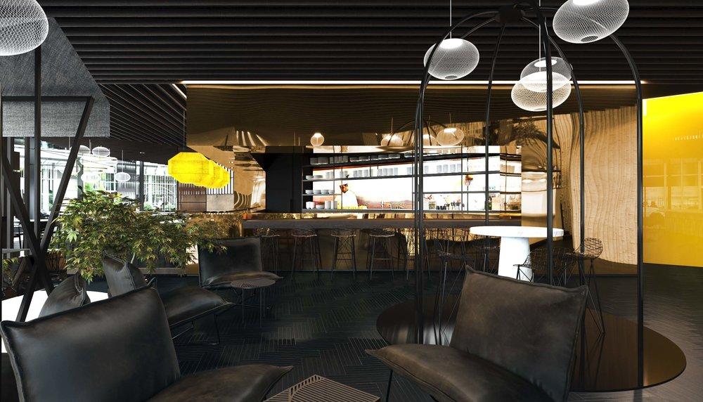KÖ 45, restaurant, bar, lounge, hospitality, interior architecture, interiordesign, Innenarchitektur, conecpt, Stuttgart, Studio Alexander Fehre