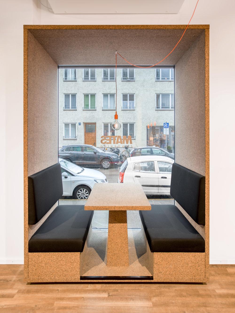 Mates Munich, Coworking, co-working space, communication, office, interior architecture, design, pendant light, muuto
