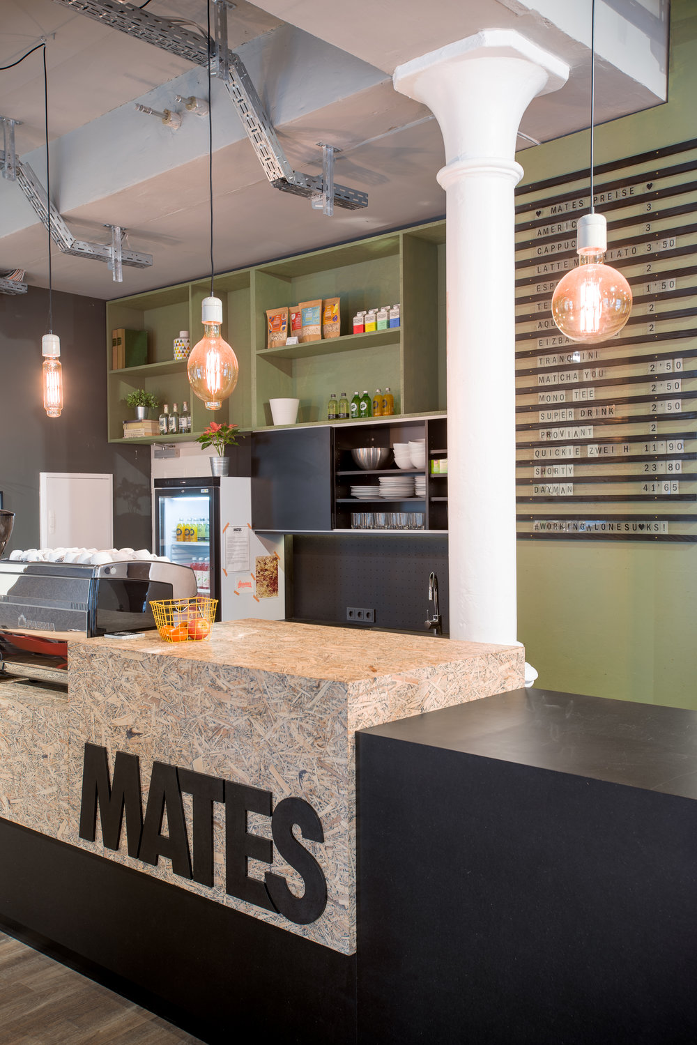 Mates Munich, Coworking, co-working space, bar, lounge, communication, office, interior architecture, design
